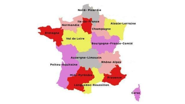 val de loire carte de france -