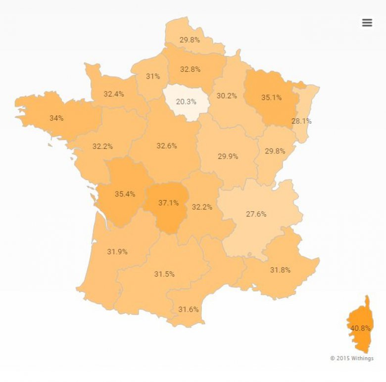 Withings cartographie l'activité physique en France / © WITHINGS