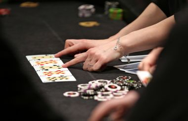 Illustration/ Table de poker / © Jan Woitas/dpa/picture-alliance/MaxPPP