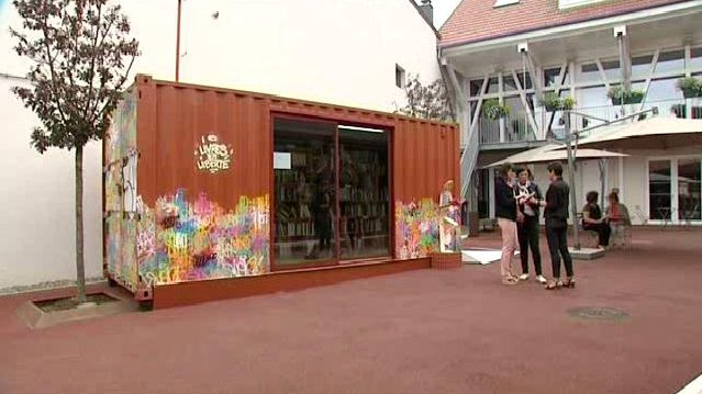 A brunstatt un container transform en biblioth que for Container alsace