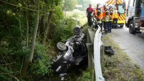 Illfurth : spectaculaire accident de la route