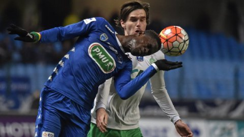 Troyes s'incline 1-2 face à Saint-Etienne et quitte la Coupe de France en 8e de finale