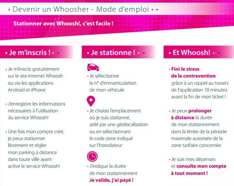 La plaquette de l'application Whoosh! / © Whoosh!