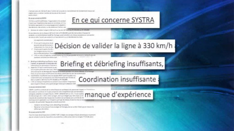 Extrait du rapport d'experts. Document remis. / © Extrait du rapport d'experts. Document remis.