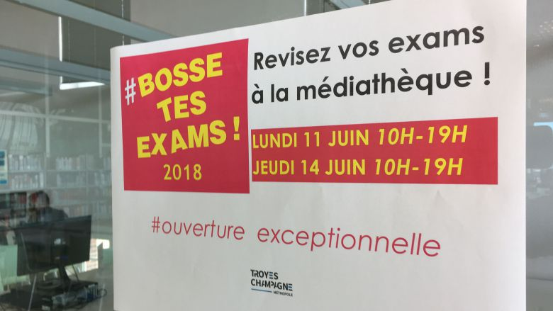 Opération #Bossetesexams à Troyes / © Brice Bachon / France 3 Champagne-Ardenne