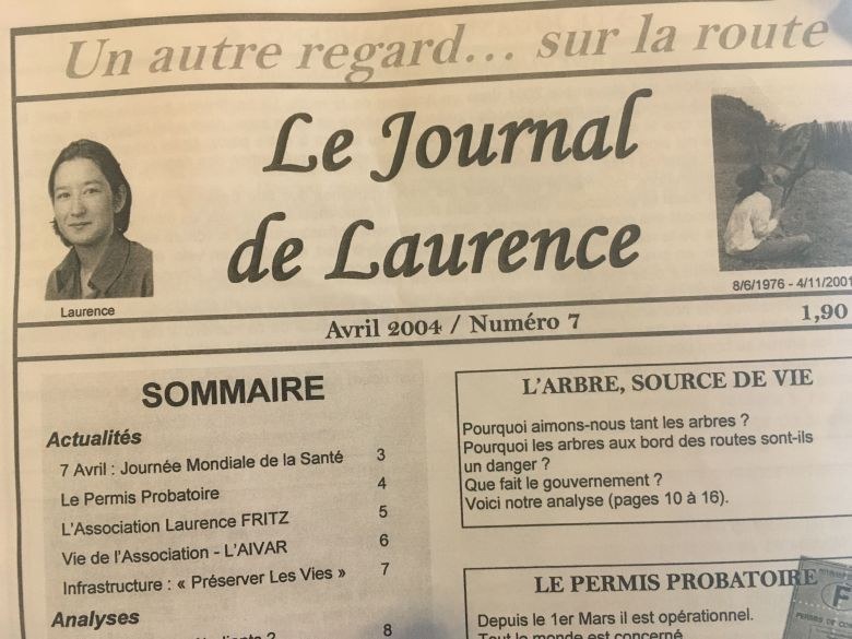 Le Journal de Laurence paraît jusqu'en 2007 / © Document remis