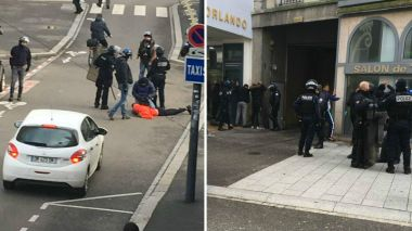 Interpellations dans les rues de Mulhouse, ce lundi matin. / © Dominique Siedlaczek. France 3 Alasce