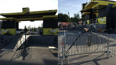 Le Tour de France part de Reims ce mardi 9 juillet 2019. Parking du Boulingrin. / © France 3 Champagne-Ardenne