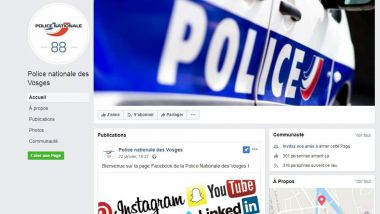 La Police Nationale a sa page Facebook Vosgienne. / © Capture d'écran Facebook Police Nationale Vosges