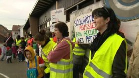 Manifestation des parents ce matin