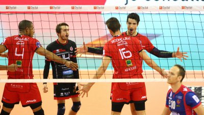 Premier match de Chaumont Volley-Ball en Ligue des champions, en Pologne
