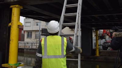 Nancy : le pont Bazin en travaux