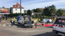 Faits divers collision carrefour Colmar