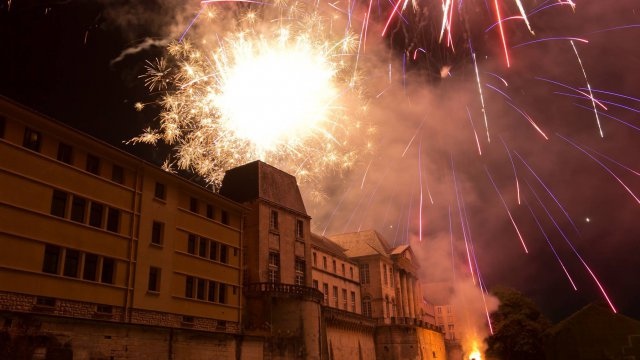 Fête Nationale à Nancy : feu d'artifice du 14 juillet