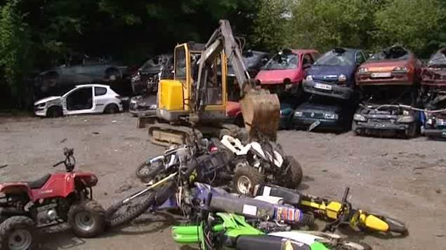 Metz : destruction de 27 quads et mini-motos non homologués
