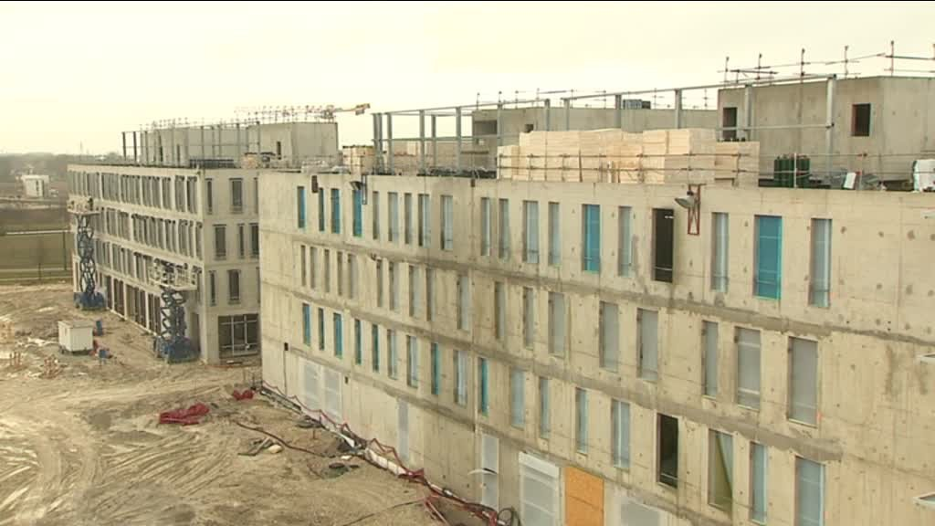 Visite du gigantesque chantier de la clinique Courlancy à Bezannes