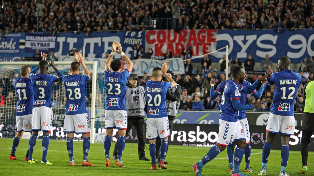 Le Racing club de Strasbourg de retour en ligue 1 !
