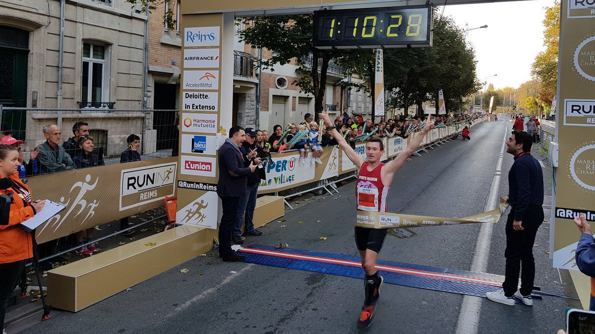 Run in Reims 2017 : L'Ardennais Damien Labroche remporte le semi-marathon