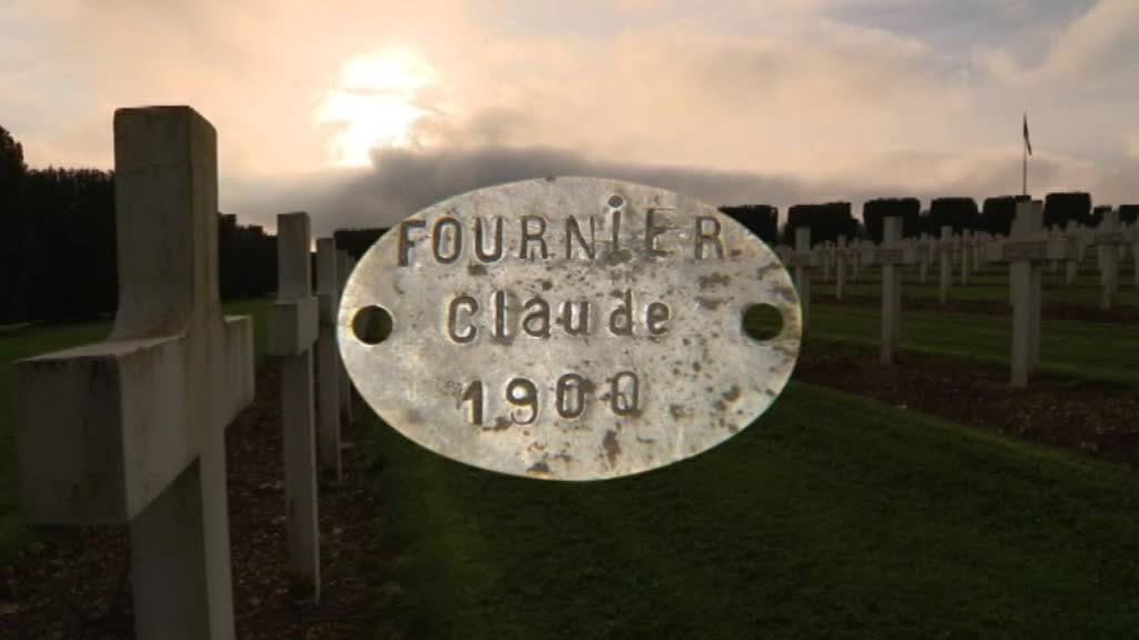 La plaque du soldat Claude Fournier / © France 2