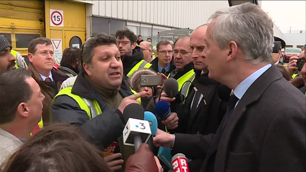 VIDEO : Bruno le Maire vivement chahuté chez PSA Mulhouse