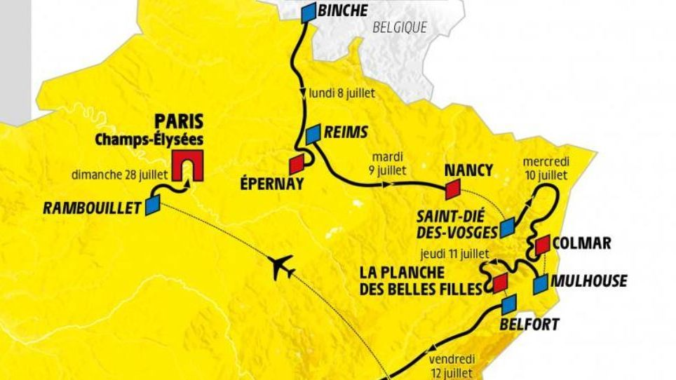 CARTE - Tour de France 2019 : les perturbations sur les routes du Bas-Rhin - - France 3 Grand Est