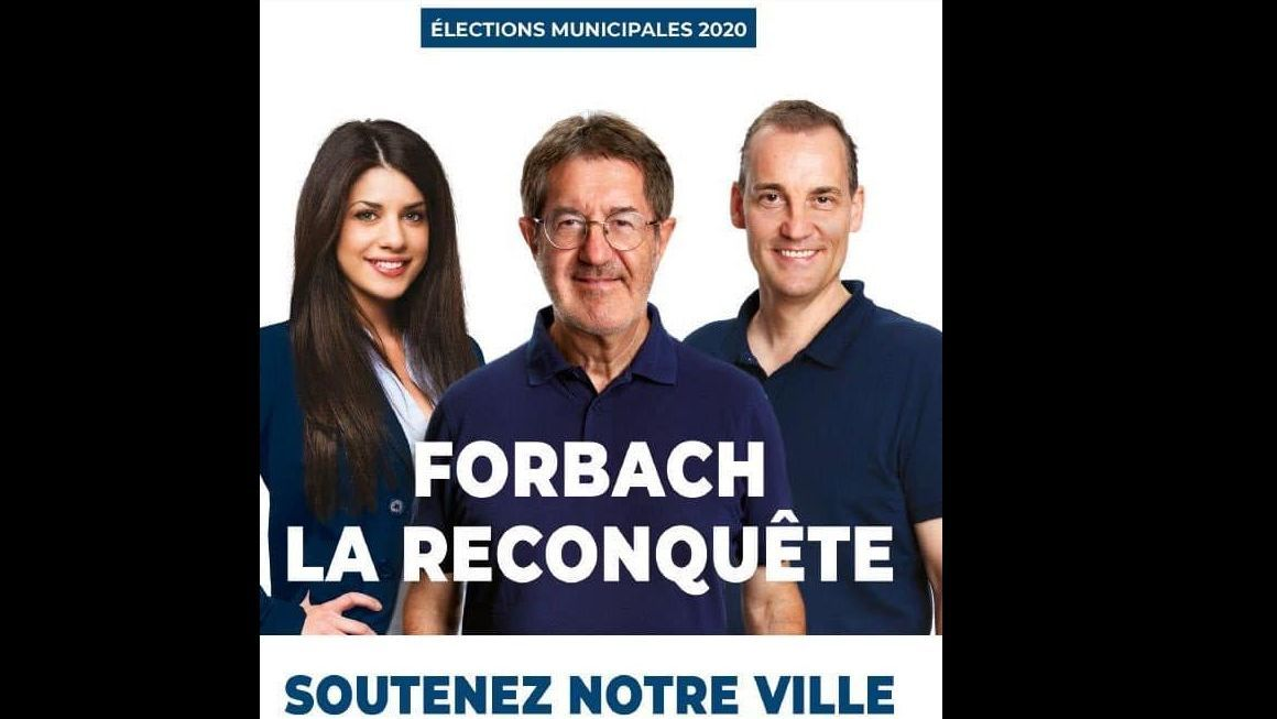 Forbach : le photomontage du candidat du Rassemblement National