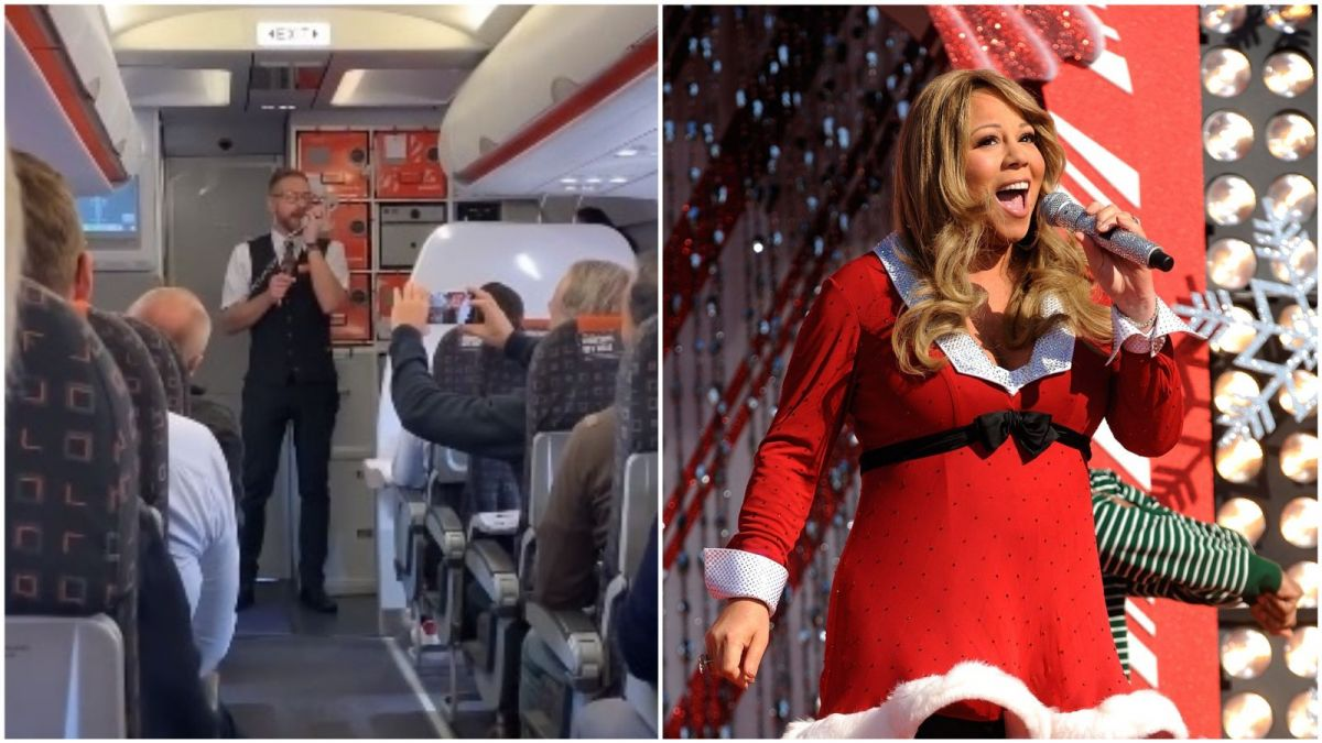 "Noël : un steward alsacien chante ""All I want for Christmas is you"" de Mariah Carey au cours d'un vol"