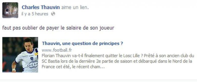 © Page Facebook de Charles Thauvin