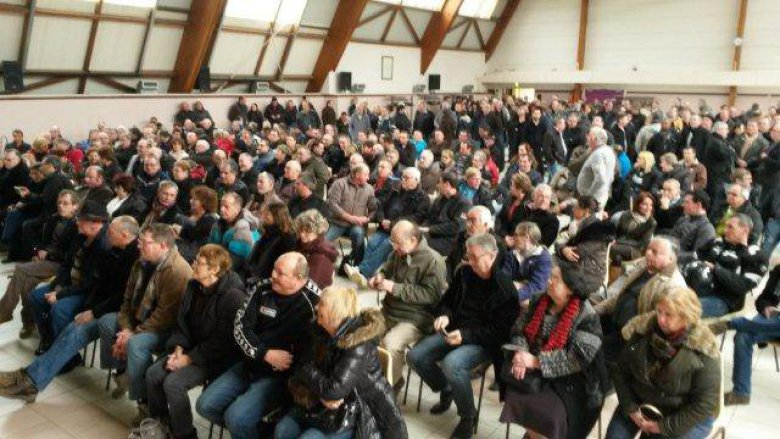 rassemblement à Thourotte des ex-Conti / © Photo Julien Guéry France 3 Picardie