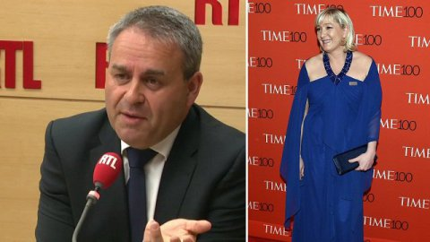 "Marine Le Pen à New York : elle ""rêve de devenir une people"", selon Xavier Bertrand"