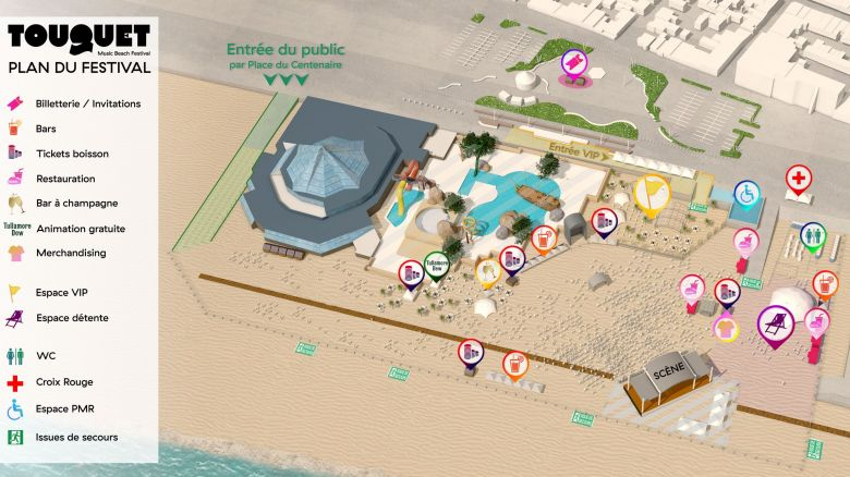 Plan d'acccès Touquet Music Beach festival 2018 / © Touquet Music Beach Festival