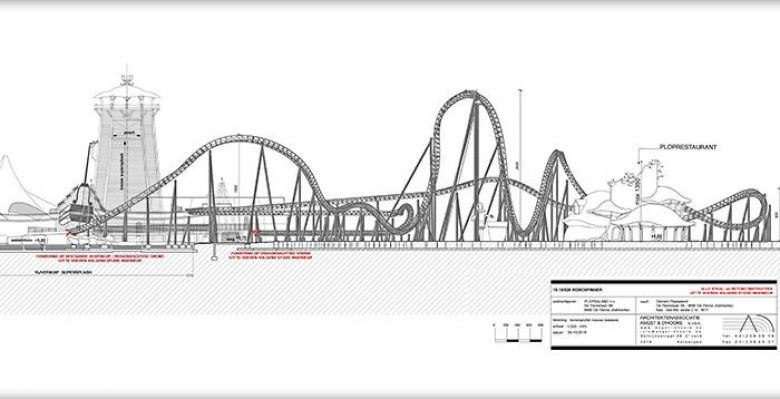 Les plans de construction de la nouvelle attraction de Plopsaland / © omgevingloket.be