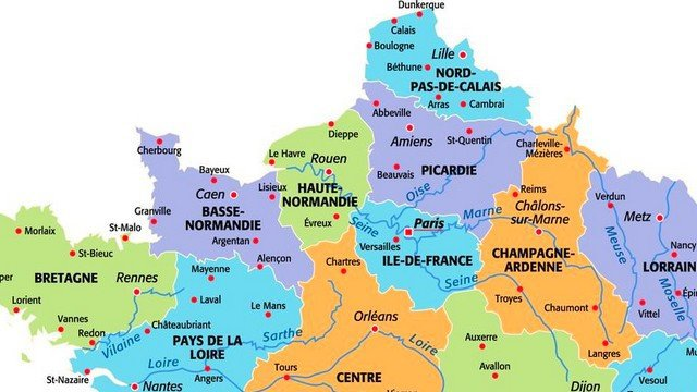 carte du nord de la france vacances arts guides voyages. Black Bedroom Furniture Sets. Home Design Ideas