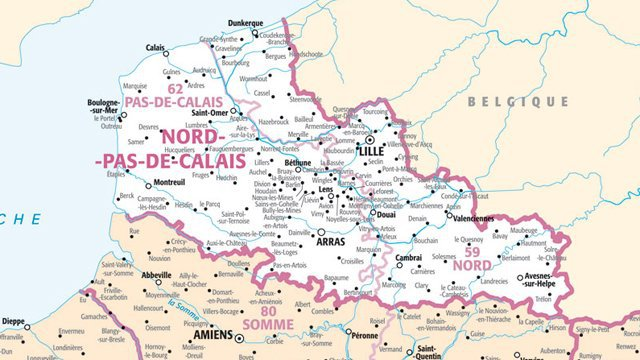 carte-de-france-nord-images
