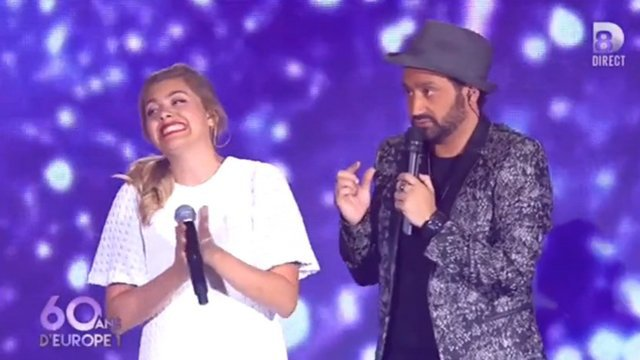 Louane et Cyril Hanouna. / © Capture d'écran D8
