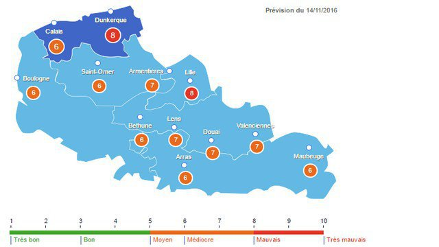 actualite pollution nord pas de calais region
