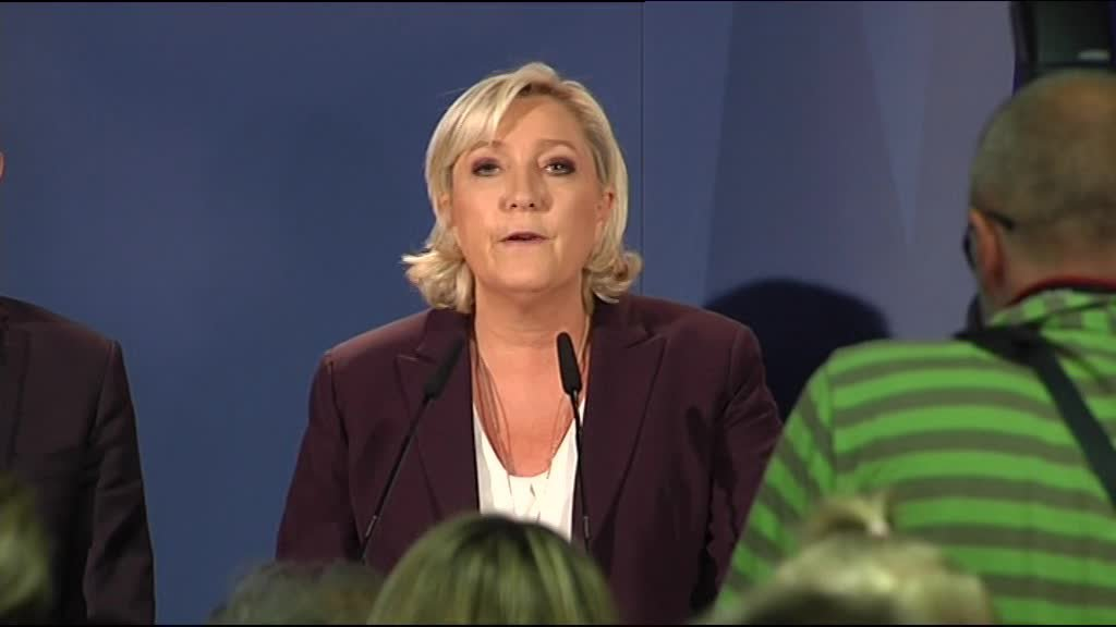 Marine Le Pen à Hénin-Beaumont réagit face à l'abstention record