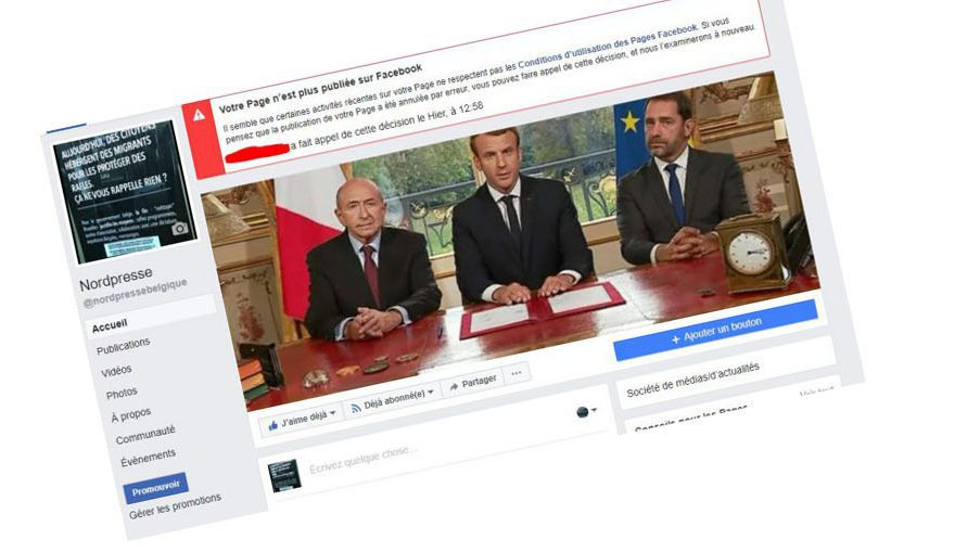"Le site belge satirique ""NordPresse"" suspendu par Facebook après son post sur Johnny Hallyday"