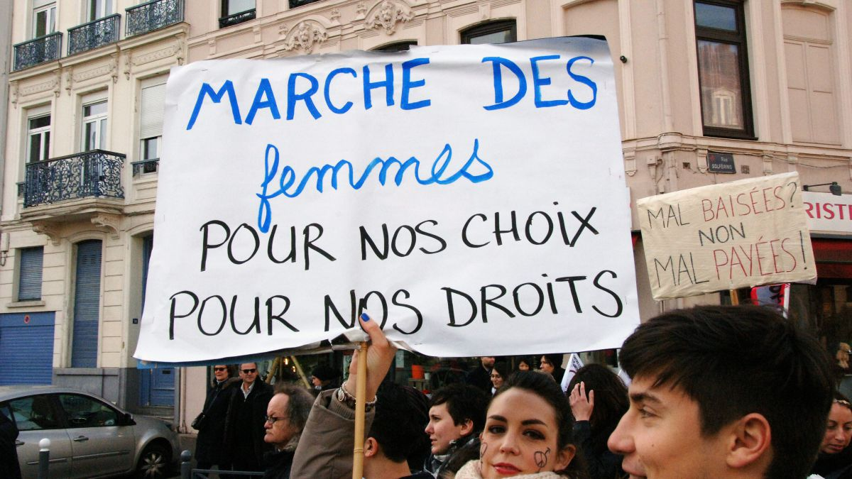 Manifestation de la journée internationale de la femme du 7/03/2015 à Lille / © Sébastien JARRY / MaxPPP
