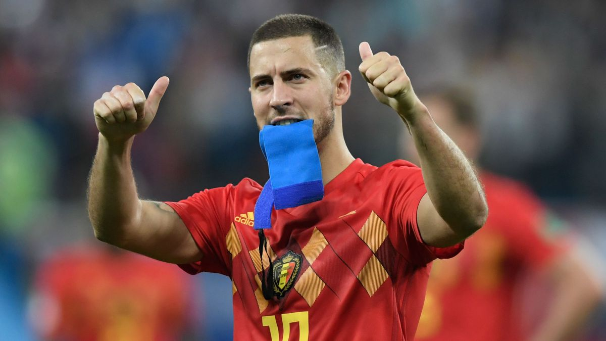 Eden Hazard à la fin du match France-Belgique / © GABRIEL BOUYS / AFP