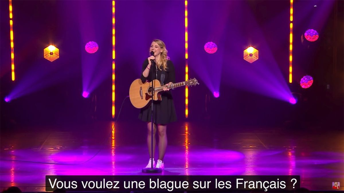 "Un sketch de Laura Laune sur la France coupé au montage de l'émission de France 2 ""Le Grand oral"""