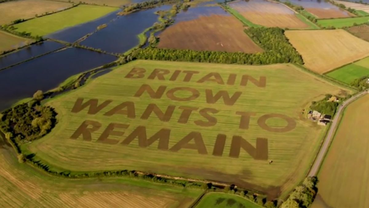 """Britain now wants to remain"" : le message fort d'un agriculteur anglais anti-Brexit"