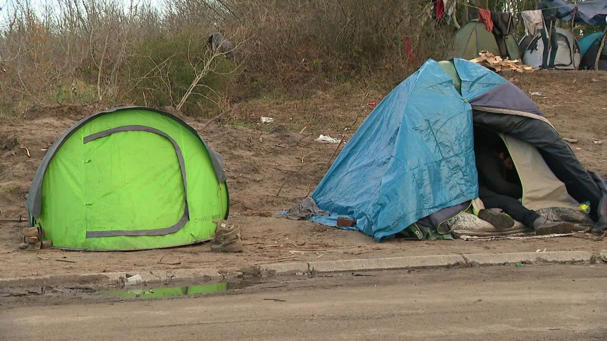 Migrant camp in Calais in the Dunes area.  / © FRANCE 3
