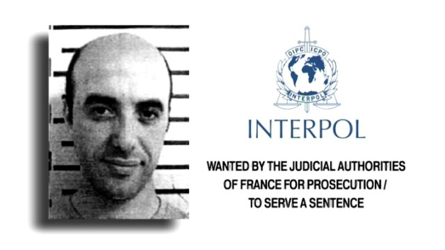 Photo de Redoine Faïd issue de l'avis de recherche Interpol. / © Interpol
