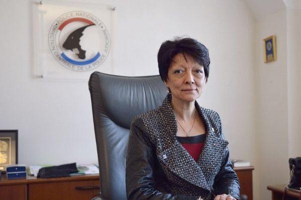 Mireille Ballestrazzi, directrice centrale de la PJ, à son bureau à Paris, le 6 mars 2014
