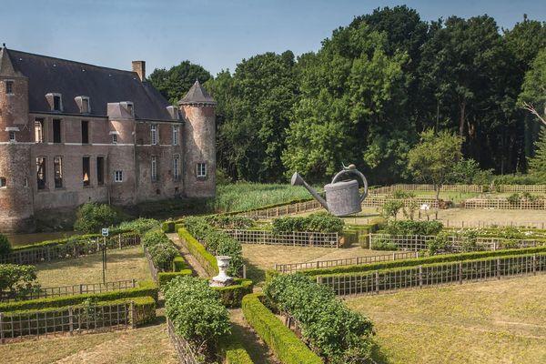 Le jardin du château d'Esquelbecq