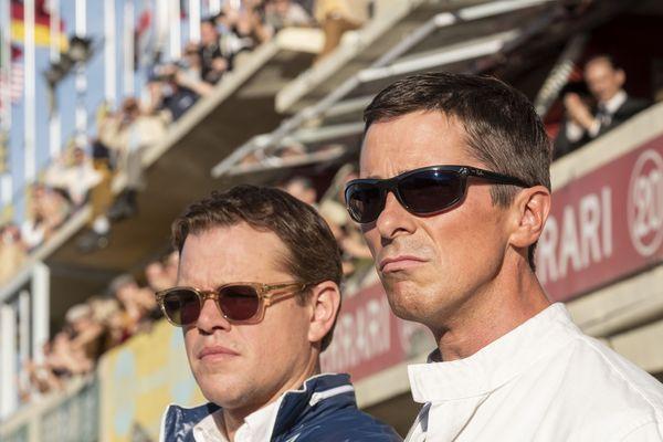 """Matt Damon et Christian Bale sur le tournage de """"Le Mans 66"""""""