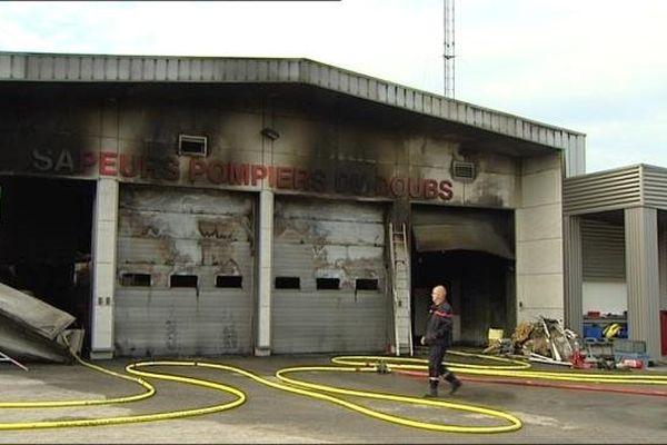 Les dégâts sont importants au centre de secours de Saône