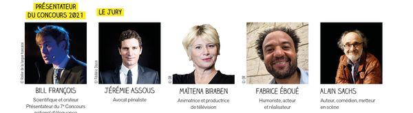Les 5 membres du jury pour le concours national d'éloquence jugeront les prestations des candidats sur leurs prestations orales.