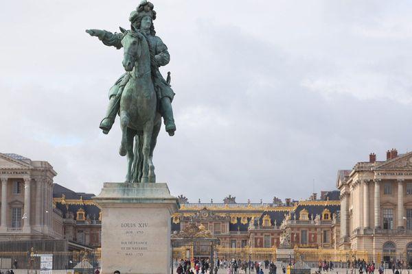 La place d'Armes du Château de Versailles.